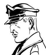Policeman Retro Hat drawing