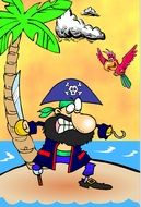 Captain Hook Parrot drawing