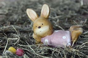 Small easter bunny statue
