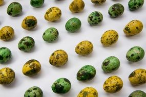 green and yellow easter eggs