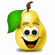 animated smiling pear