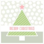 christmas Greeting card in pastel colors