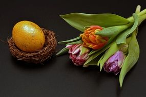Easter Egg and flower