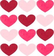 wallpaper with pink hearts