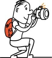 graphic image of a funny photographer