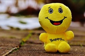 yellow soft toy emoticon