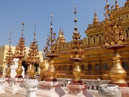 buddhist temple in gold color