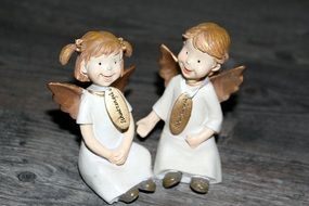 figures of cheerful angels