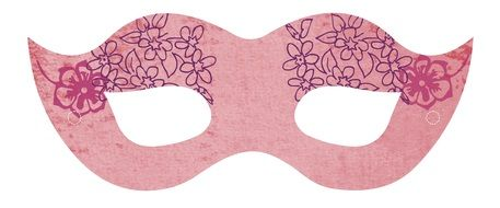Clipart of pink party mask