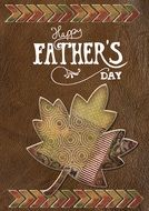 brown Happy Father\'s Day card