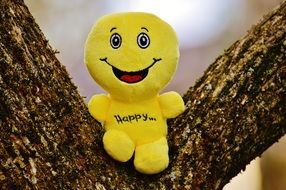 soft smiley on tree