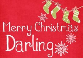 Card merry christmas darling