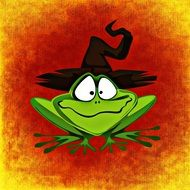 Frog Hat Halloween drawing