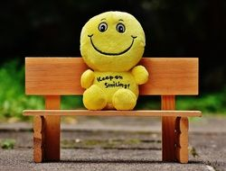 soft smilies on the bench