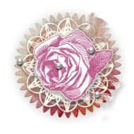 Scrapbooking, paper Rose with pearls