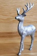 Reindeer, silver christmas decoration