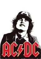 Printing On T-Shirt Ac Dc drawing