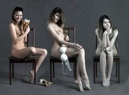 photo of a naked girl in different stages of life