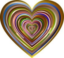 colorful heart with abstract pattern