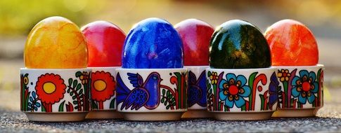 colorful Easter Eggs happy easter