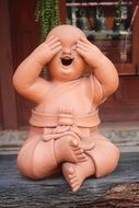 funny Buddha Figure don't look Figure
