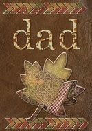 brown greeting card for father's day