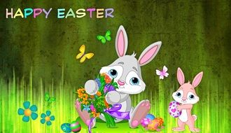 happy Easter Greeting drawing