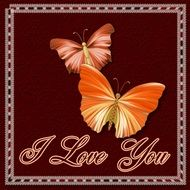 Love greeting card clipart