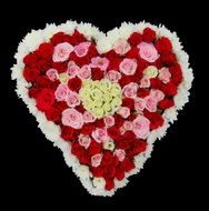 roses bouquet in the shape of a heart