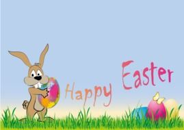 clipart of the happy easter bunny