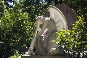angel sculpture in a cemetery
