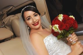 bride with bridal bouquet Wedding romance