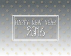 dotted happy new year 2016 greeting card