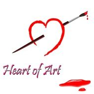 heart of art drawing