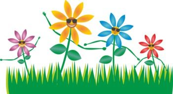 clipart of the flowers on a meadow