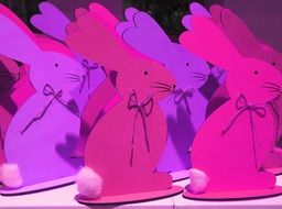 pink and purple Easter bunnies