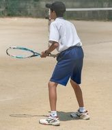 Japan youth playing Tennis lifestyle