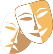 theater symbol, two Masks