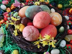 colorful Easter Eggs on Nest