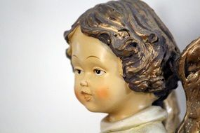 ceramic angel sculpture head