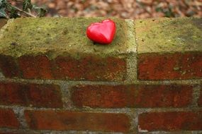 ceramic Heart on Wall