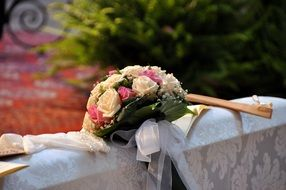 tradition Wedding bouquet of roses