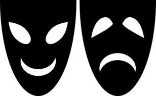 Ancient Greek Masks Template For Kids Theatre Comedy Tragedy free image