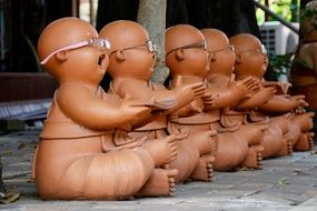 laugh Buddha Stone Figures