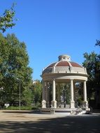 vintage Gazebo in Park at summer