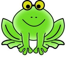 Clipart of green Frog