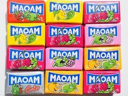chewy sweetness Maoam