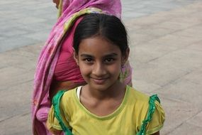 indian authentic girl with smile
