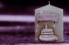 candle for cake on birthday