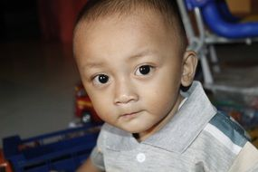 portrait of indonesian child